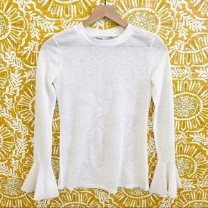 Endless Rose White Bell Sleeve Top Tee XS